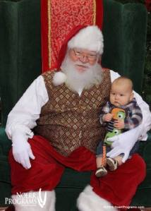 Santa and Johnny at 8 months