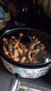 Supper with nana crockpot kraft just put on to cook.